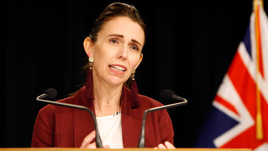FILE - In this Aug. 5, 2019, file photo, New Zealand Prime Minister Jacinda Ardern talks to the media in Wellington, New Zealand. Ardern is facing a difficult test of her leadership after her party president resigned over the party's handling of a sexual assault complaint. (AP Photo/Nick Perry, File)