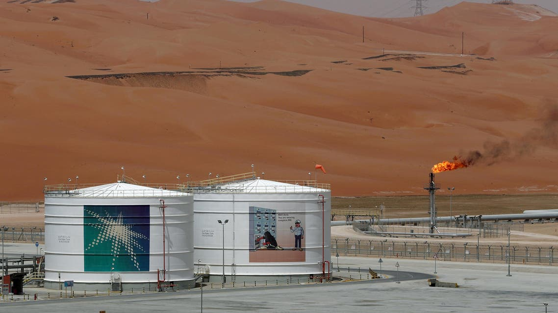 A production facility is seen at Saudi Aramco's Shaybah oilfield in the Empty Quarter, Saudi Arabia, May 22, 2018. REUTERS