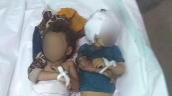 صورة تفطر القلب.. مقتل طفلين جراء قصف حوثي على تعز