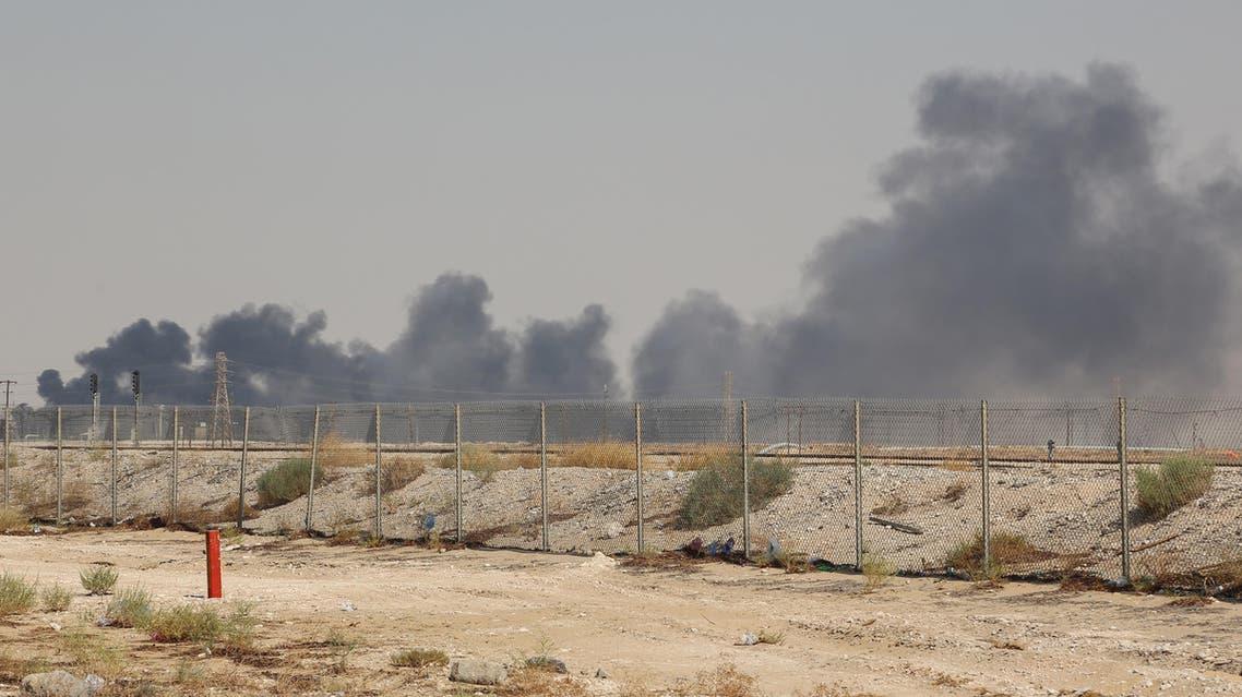 abqaiq fire (AFP)