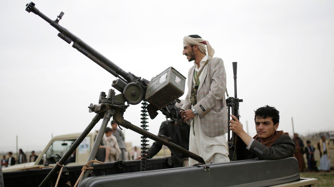 عناصر من ميليشيا الحوثي الانقلابية