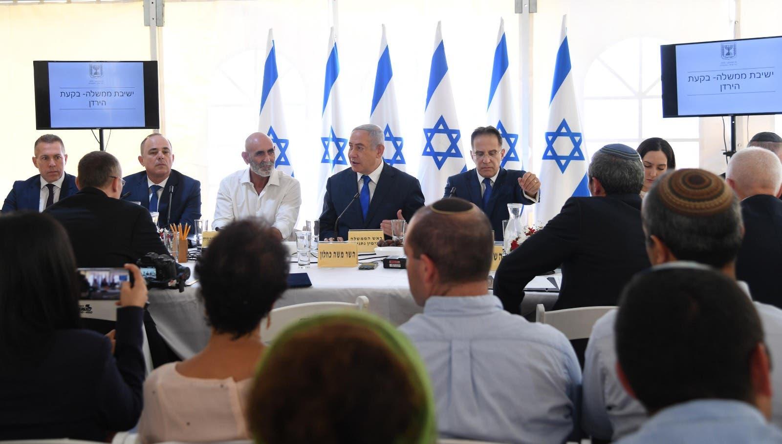 من اجتماع حكومة نتنياهو في غور الأردن