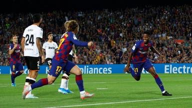 فوز كبير لبرشلونة على فالنسيا.. وأنسو فاتي يدخل التاريخ