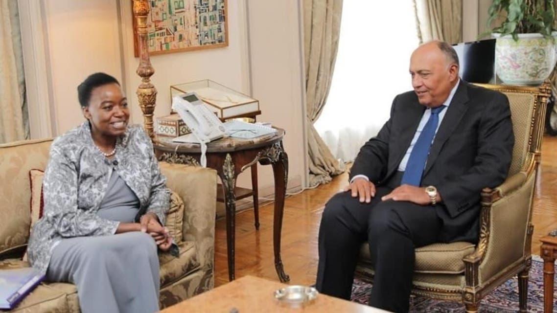 وزير خارجية مصر مع نظيرته الكينية