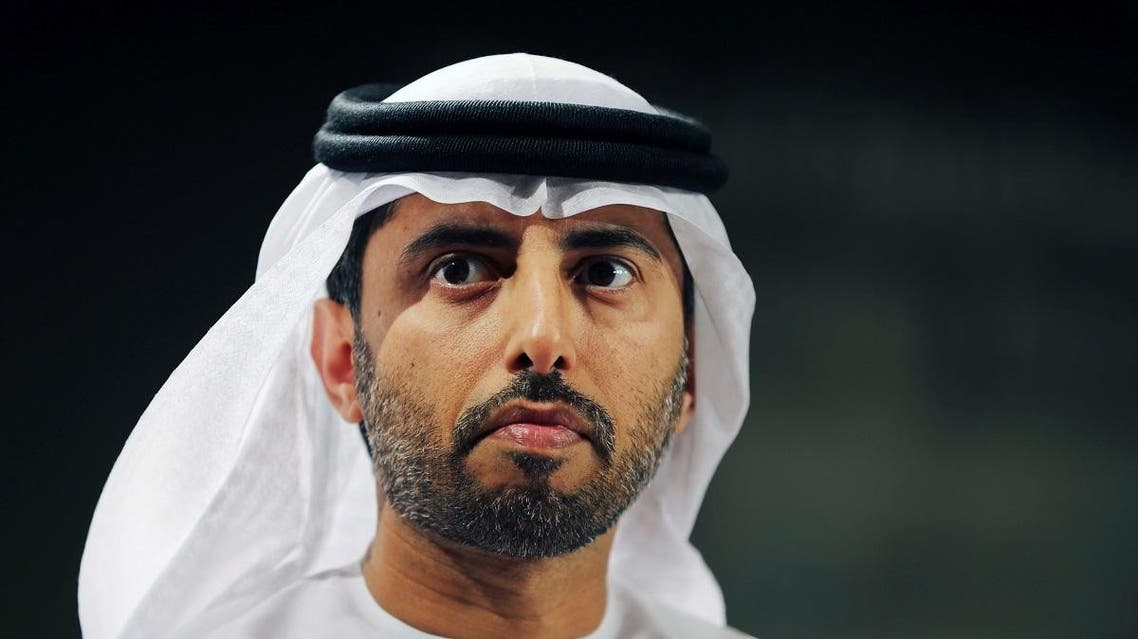 Suhail bin Mohammed al-Mazroui, UAE Oil Minister listens during his appearance at the 6th Gulf Intelligence UAE Energy Forum in Abu Dhabi. (AP)