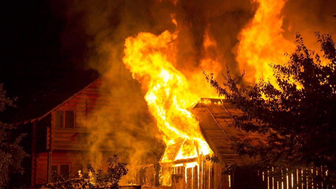 منزل حريق