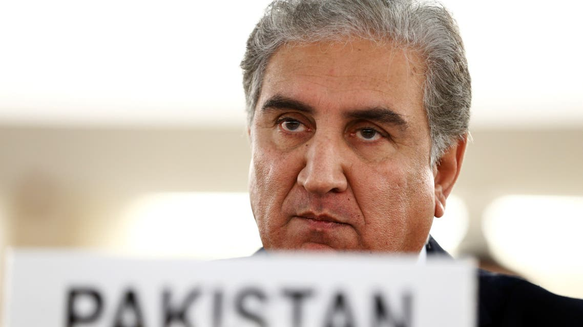 Pakistan foreign minister Shah Mehmood Qureshi arrives to address the United Nations Human Rights Council in Geneva, Switzerland, September 10, 2019. REUTERS/Denis Balibouse