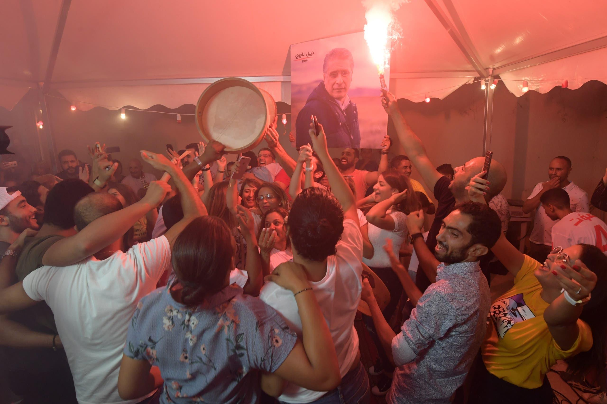 أنصار القروي يحتفلون  (15 سبتمبر- فرانس برس)