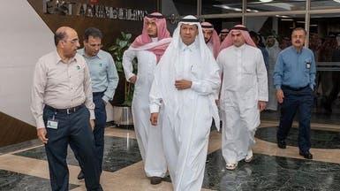 بعد الهجوم.. صور لوزير الطاقة السعودي بمعامل أرامكو