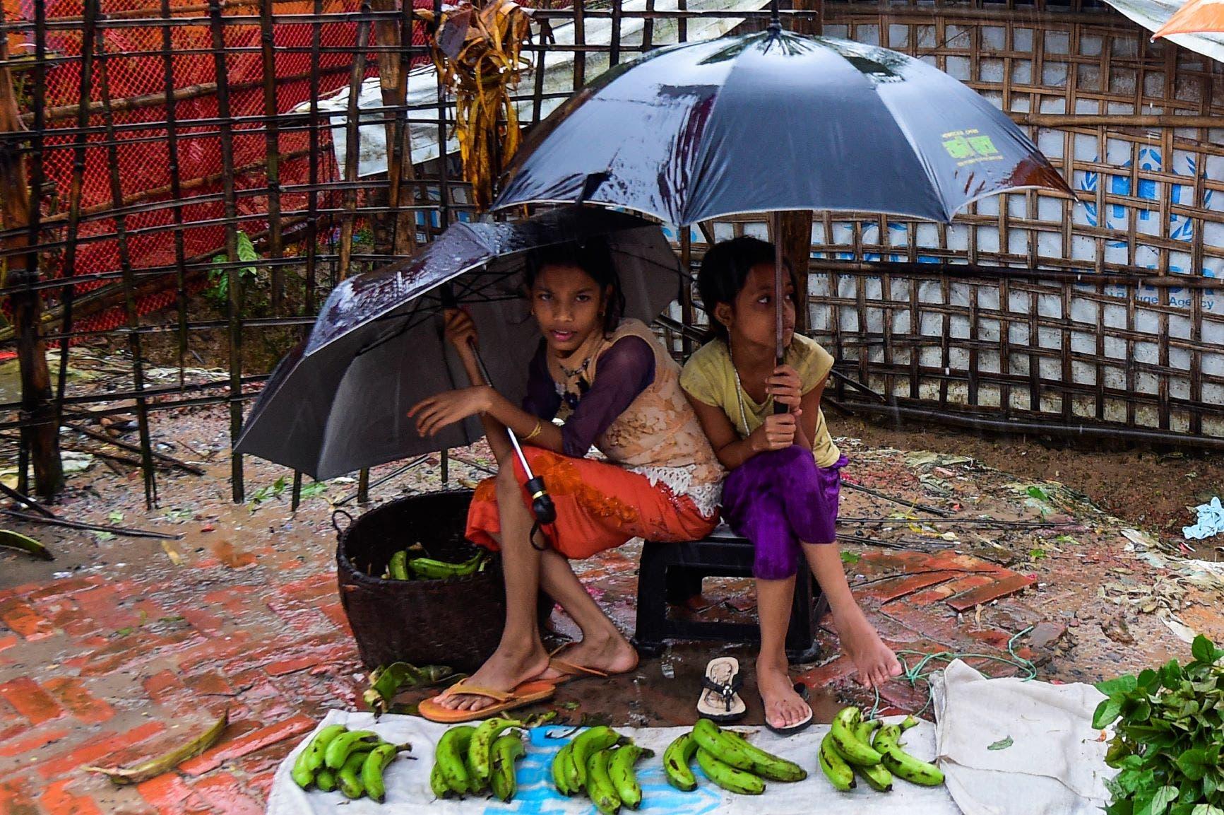 طفلتان من الروهينغا (أرشيفية)