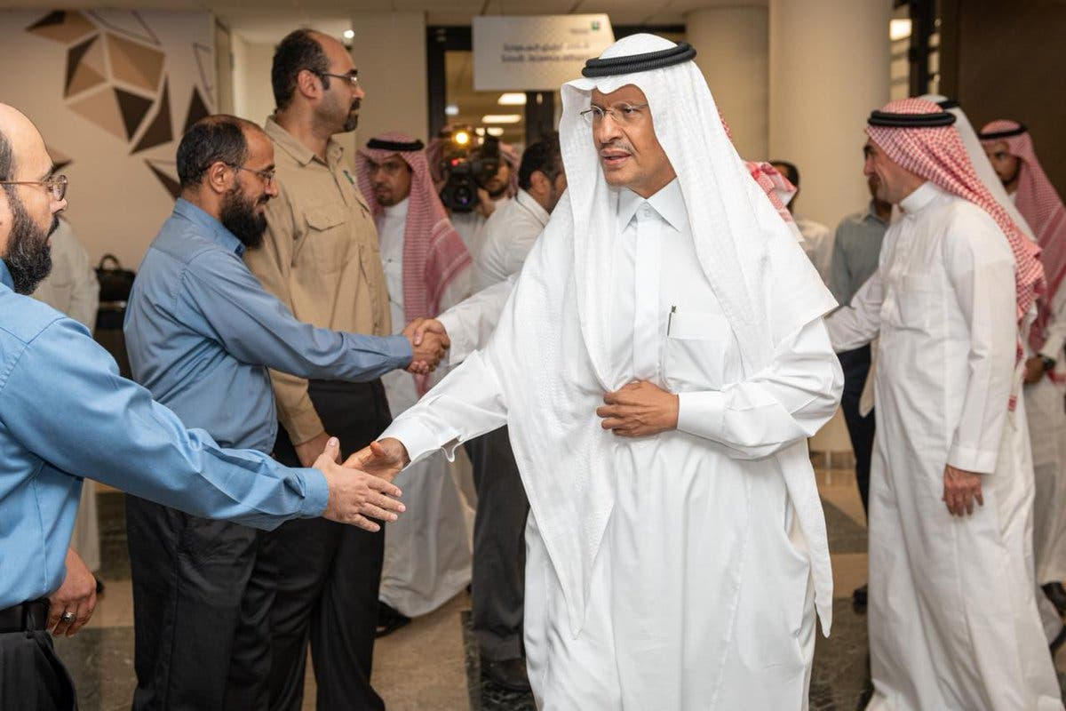Saudi Arabia's Energy Minister Prince Abdulaziz bin Salman inspected on Saturday the Saudi Aramco facilities in Abqaiq1. (SPA)