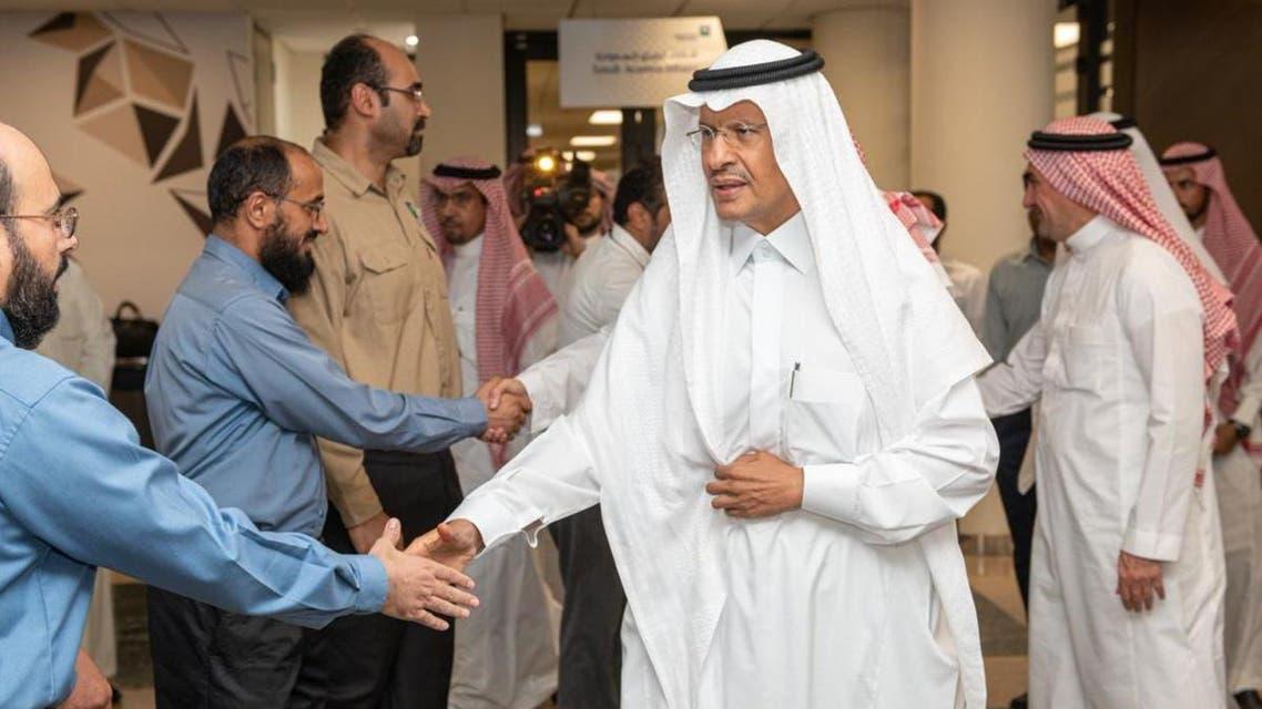 Saudi Arabia's Energy Minister Prince Abdulaziz bin Salman inspected on Saturday the Saudi Aramco facilities in Abqaiq1. (SPA)