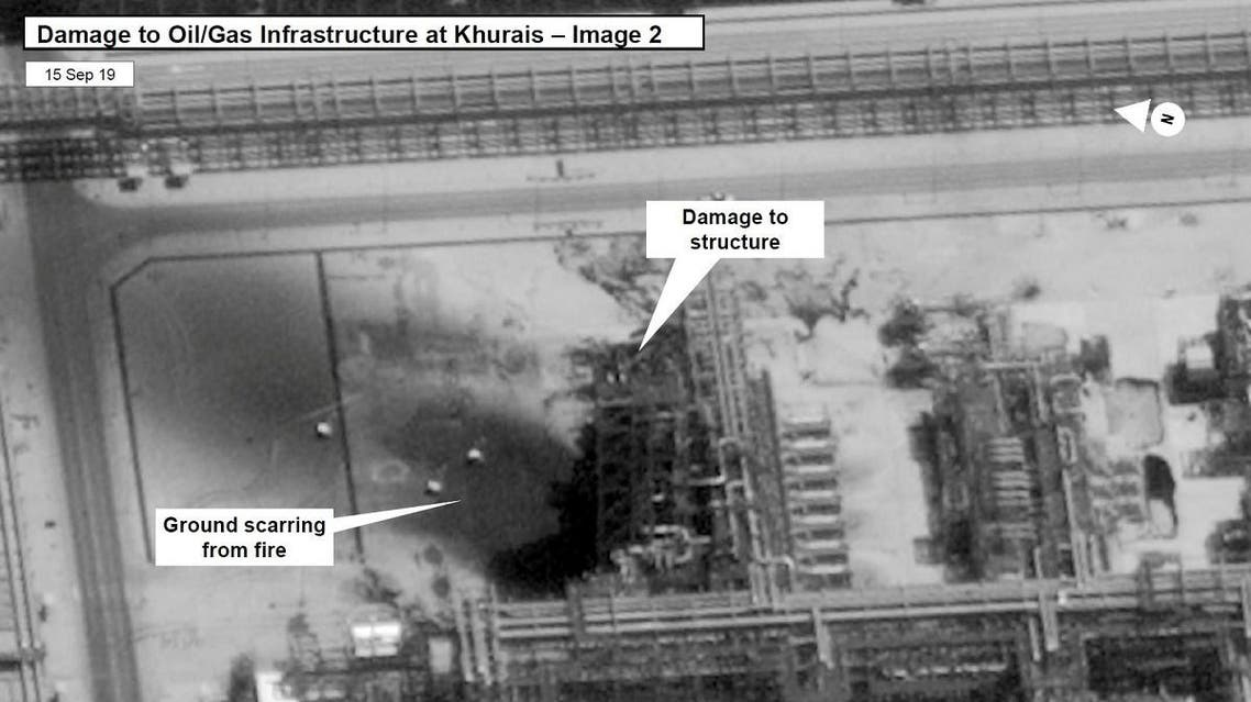 A satellite image showing damage to oil/gas Saudi Aramco infrastructure at Khurais, in Saudi Arabia in this handout picture released by the U.S Government September 15, 2019. (US Government/DigitalGlobe/Reuters)