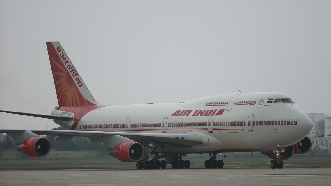 An Air India plane carrying Indian Prime Minister Narendra Modi arrives at Qingdao Liuting International Airport for the 18th Shanghai Cooperation Organization (SCO) Summit in Qingdao, in China's Shandong province on June 9, 2018. The two-day Shanghai Cooperation Organisation (SCO) is a regional security bloc led by China and Russia.