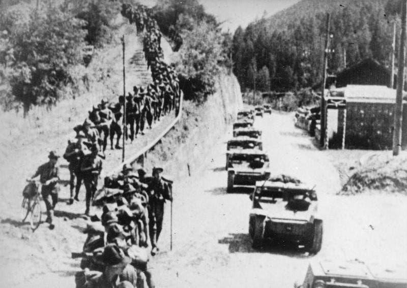 صورة لجانب من القوات الإيطالية بأثيوبيا