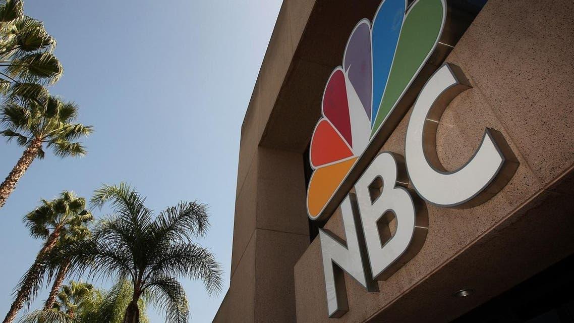 The NBC peacock logo hangs on the NBC studios building in Burbank, California. (AFP)