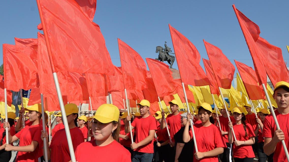 kyrgyzstan youth national parade (AFP)