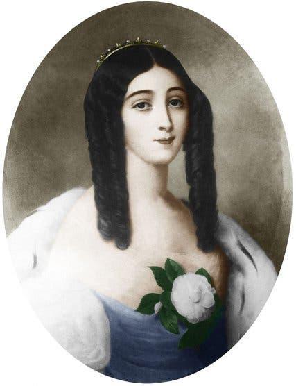 لوحة تجسد الفرنسية ماري دوبلسيس