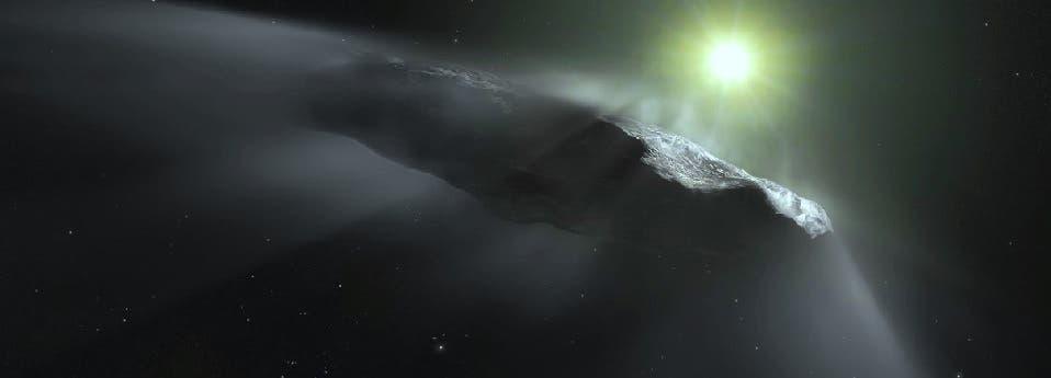 ومنذ عامين وصل أول زائر من الفضاء النجمي الى المجموعة الشمسية، وهو الشبيه بسيجار، فبقي أسبوعا ثم اختفى له كل أثر