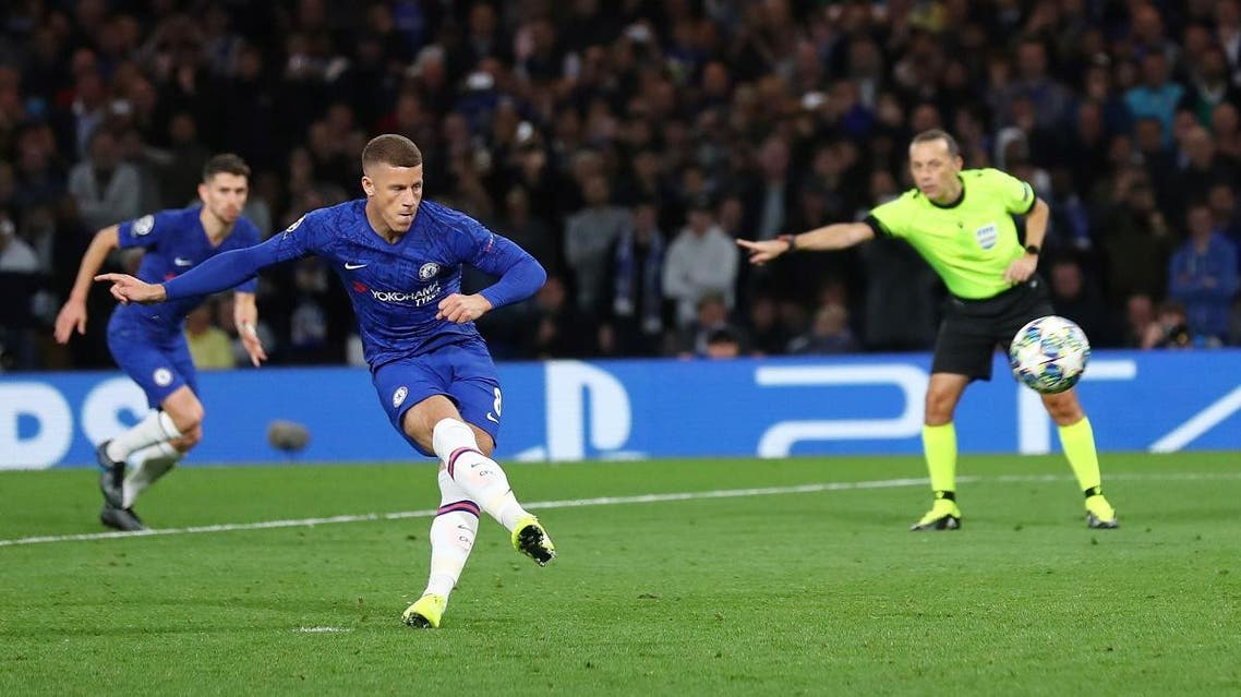 Chelsea's Ross Barkley misses from the penalty spot. (Reuters)
