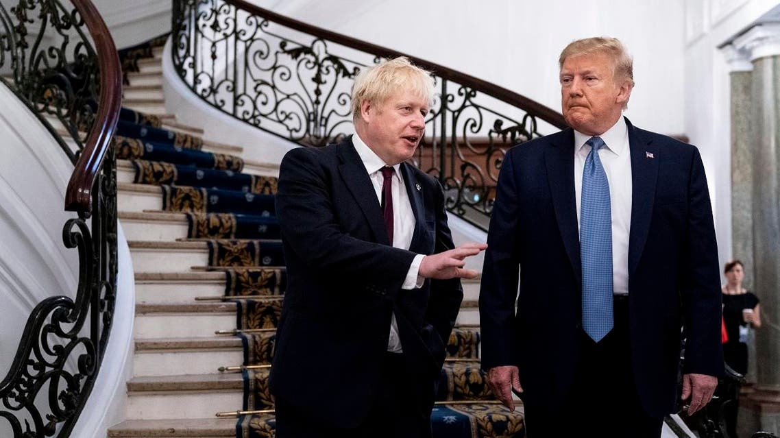 US President Donald Trump and Britain's Prime Minister Boris Johnson pictured at the G7 summit. (File photo: AP)