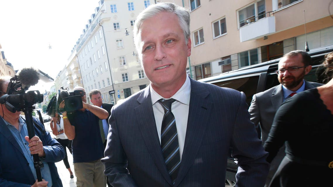 Robert C O'Brien, US Special Envoy Ambassador, arrives at the district court to follow the trial against US rapper ASAP Rocky (not in picture) in Stockholm on August 1, 2019. The 30-year-old artist, whose real name is Rakim Mayers, was arrested on July 3, 2019 along with three other people, following a street brawl in Stockholm on June 30. The musician's detention has stirred diplomatic tensions and fan outrage.