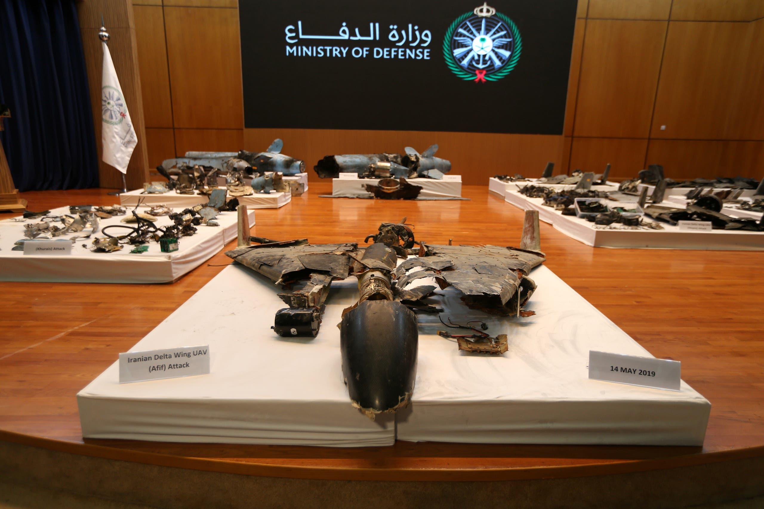 أدلة عرضتها وزارة الدفاع السعودية حول تورط إيران بهجوم أرامكو