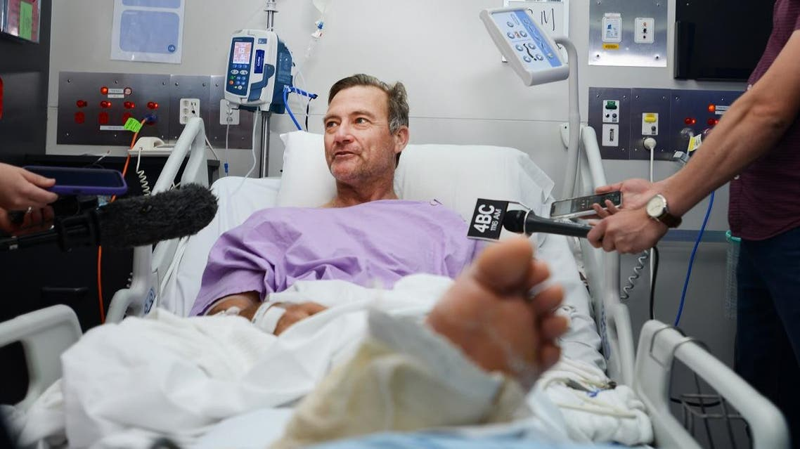 An Australian bushwalker who tumbled down a waterfall, snapping his leg in two, told Wednesday how he managed to crawl for two arduous days. (AFP)