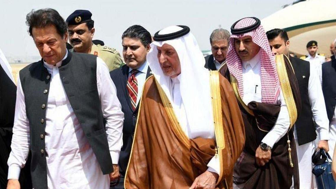 Imran Khan in Jeddah 19 September, 2019. (SPA)