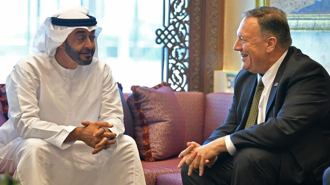 بومبيو ومحمد بن زايد في أبوظبي