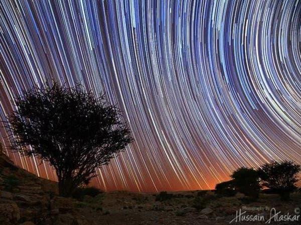 بالصور.. سعودي يوثق جمال وحركة النجوم فوق سماء الدلم