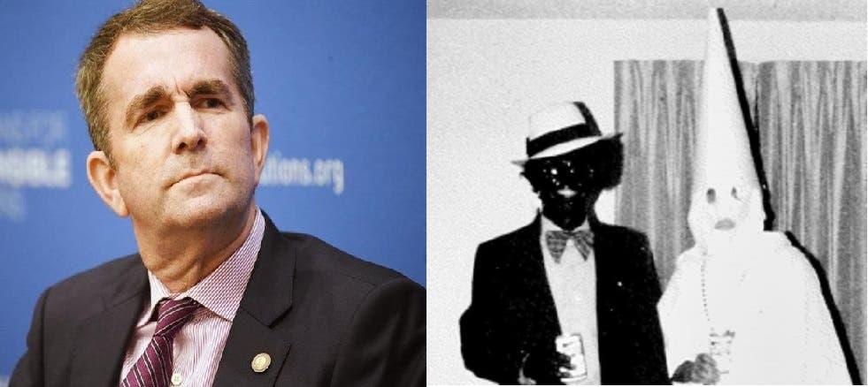 ولو وجدوا دليلا على أن المتنكر بأسود في الصورة الى اليمين، هو حاكم ولاية فيرجينيا رالف نورثام، لاستقال