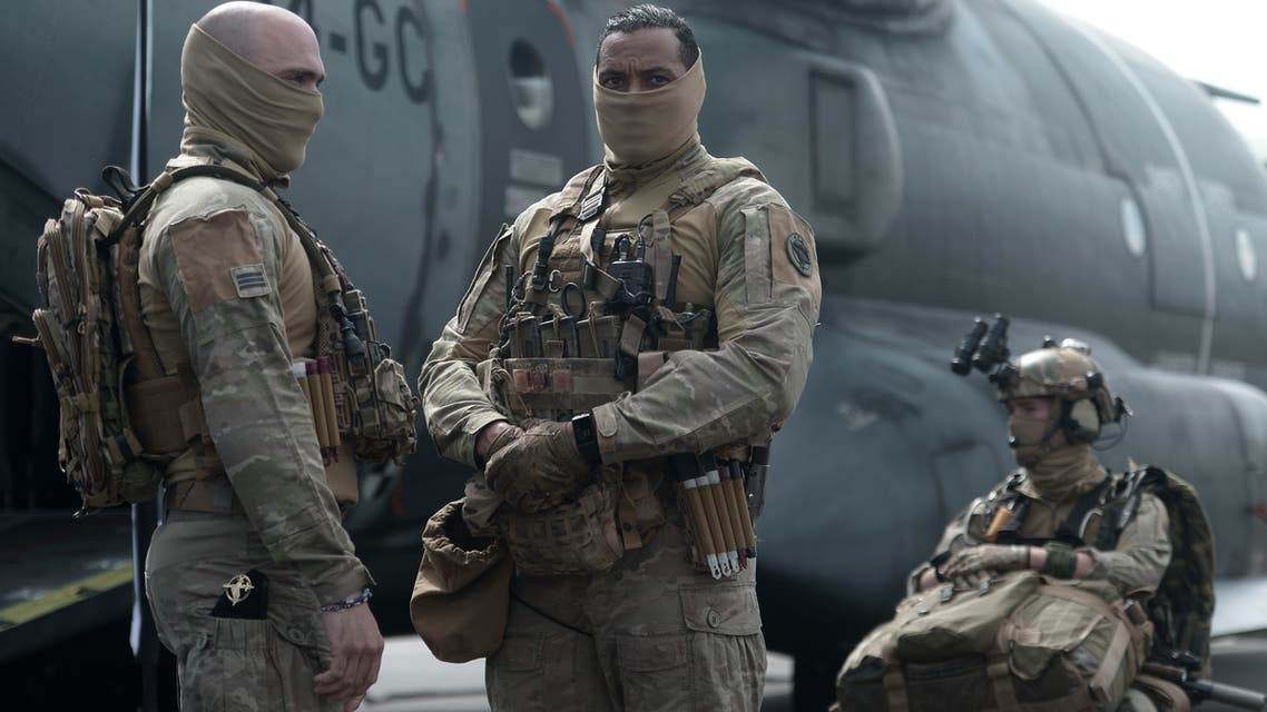 Members of French army 4th Special Forces Helicopter Regiment (4th RHFS) pose on June 13, 2019 in Pau, southwestern France.