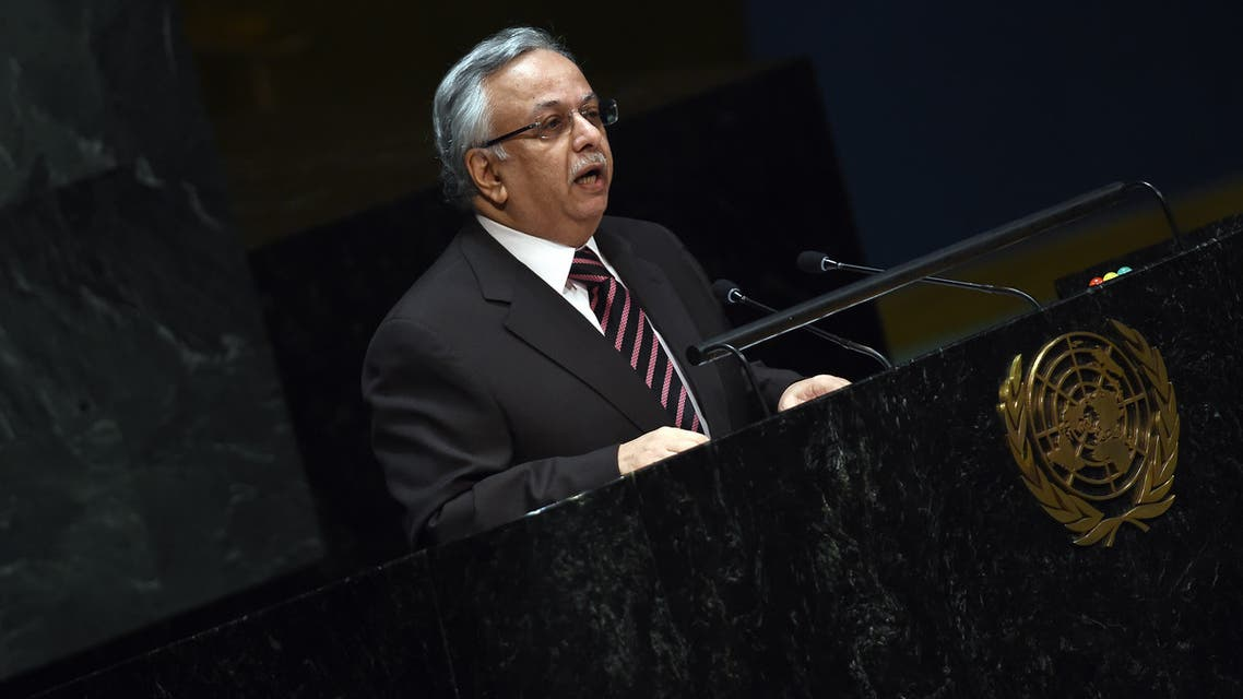 NEW YORK, NY - MAY 15: Saudi Arabian Ambassador to the United Nations Abdallah Al-Mouallimi speaks ahead of a vote at the United Nations calling for a political transition in Syria on May 15, 2013 in New York City. The 193-member UN General Assembly was to vote on an Arab-backed resolution condemning the regime of Syrian President Bashar Assad for human rights abuses and its escalating use of heavy weapons in the country's civil war. John Moore/Getty Images/AFP