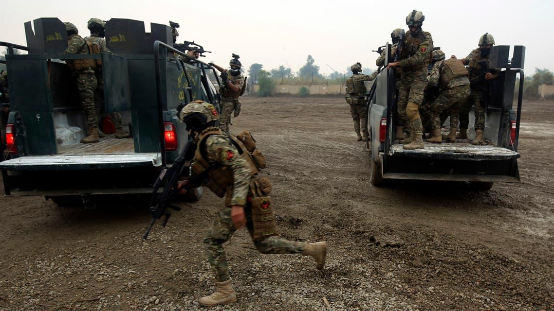 عناصر من قوات التدخل السريع العراقية في مهمة لمكافحة الإرهاب