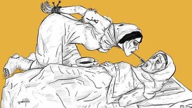 يمني يجسد بريشته معاناة مدينة تعز جراء حصار الحوثيين