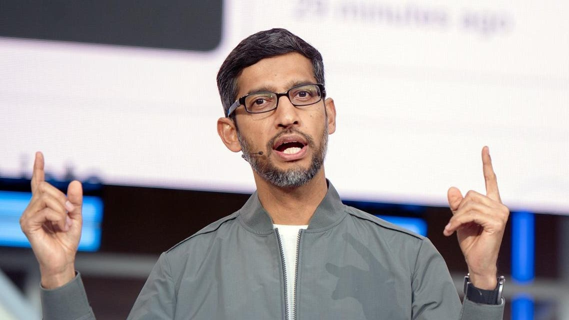 Google CEO Sundar Pichai speaks during the Google I/O 2019 keynote session at Shoreline Amphitheatre in Mountain View, California on May 7, 2019. (AFP)