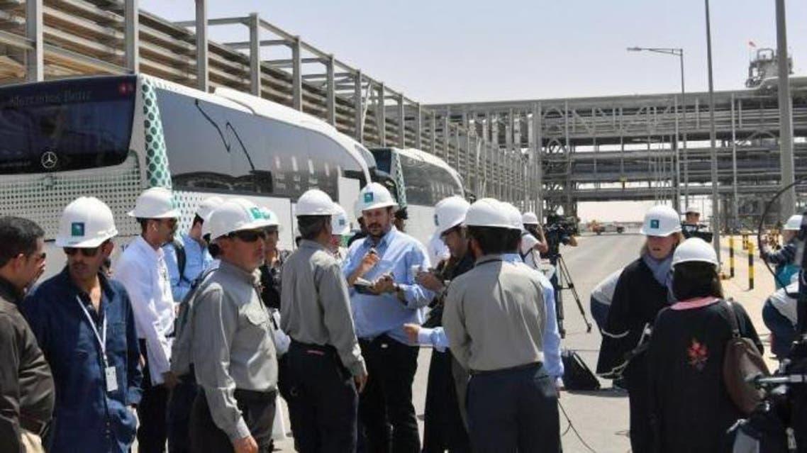 Journalists visit Aramco site at Abqaiq Khurais Saudi Arabia 20-9-19 (SPA)