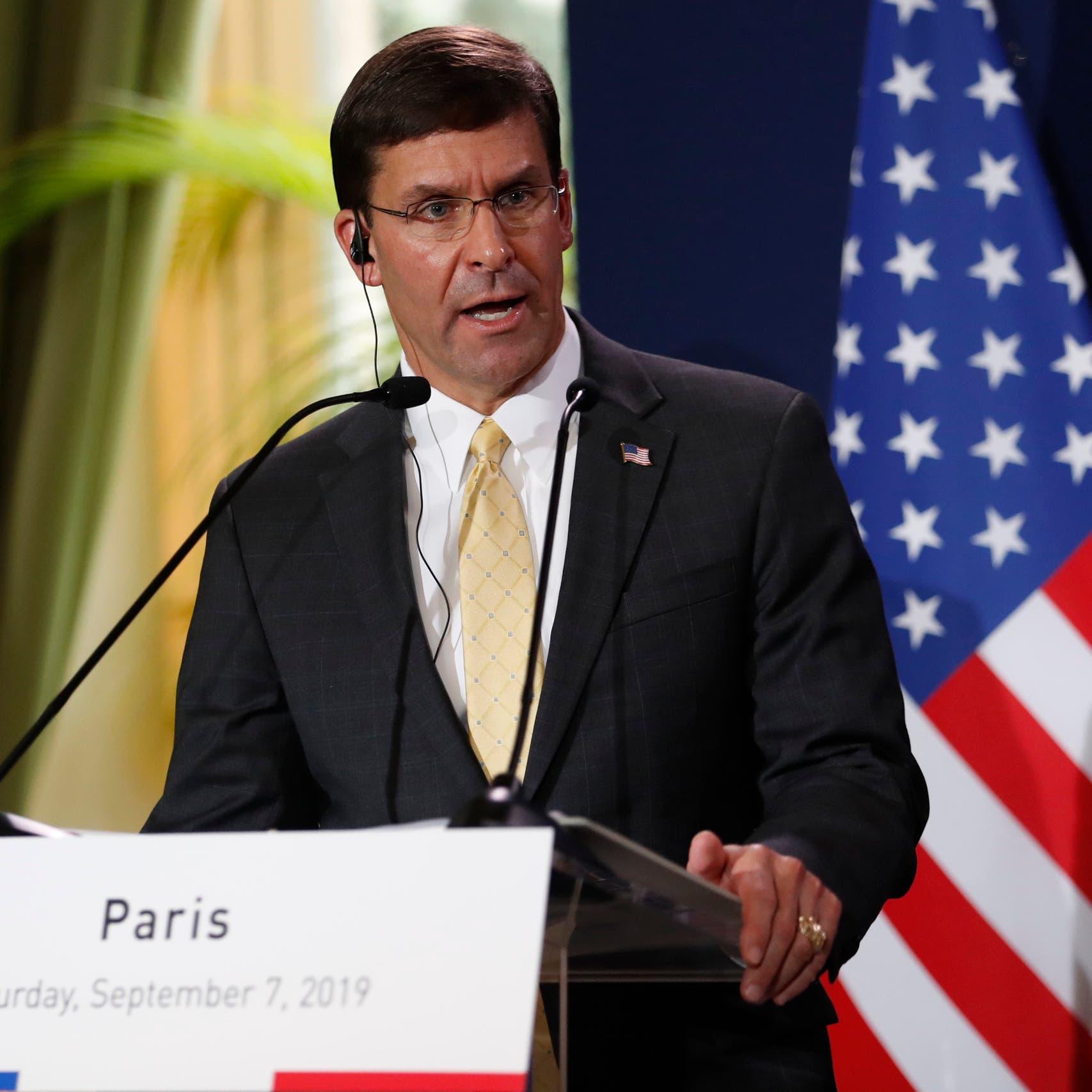 إسبر: واشنطن ستبقي 600 جندي في سوريا