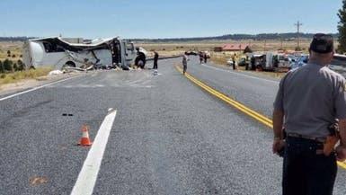 صور مروعة.. قتلى بتحطم حافلة سياحية في يوتا الأميركية