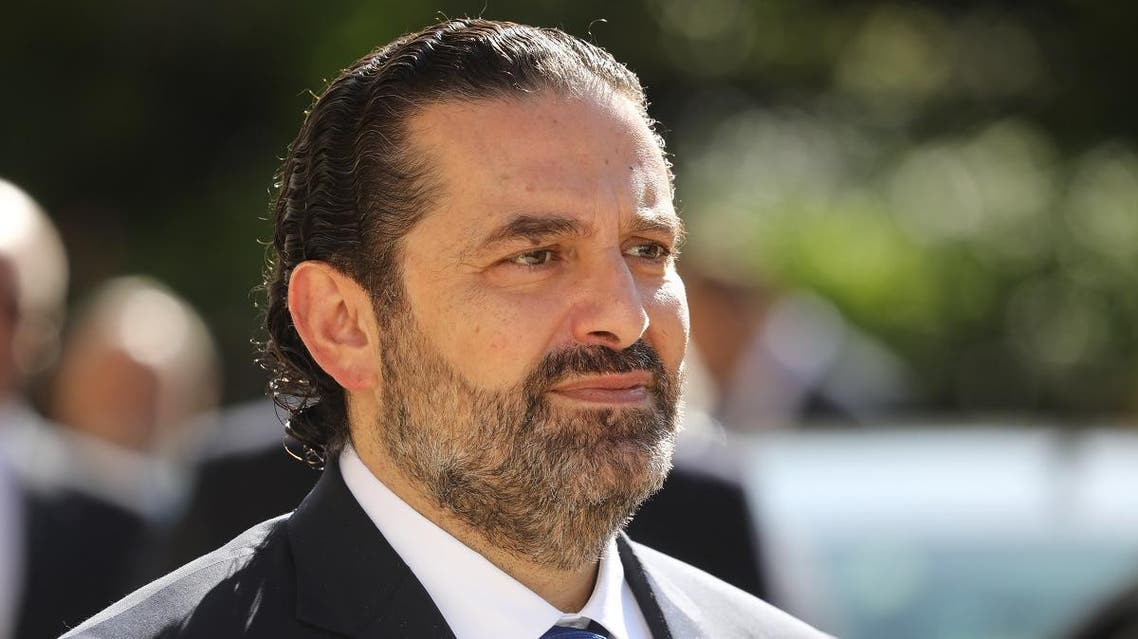 Lebanese Prime Minister Saad Hariri speaks to the press following a meeting with the French President at the Elysee Palace in Paris on September 20, 2019. (File photo: AFP)