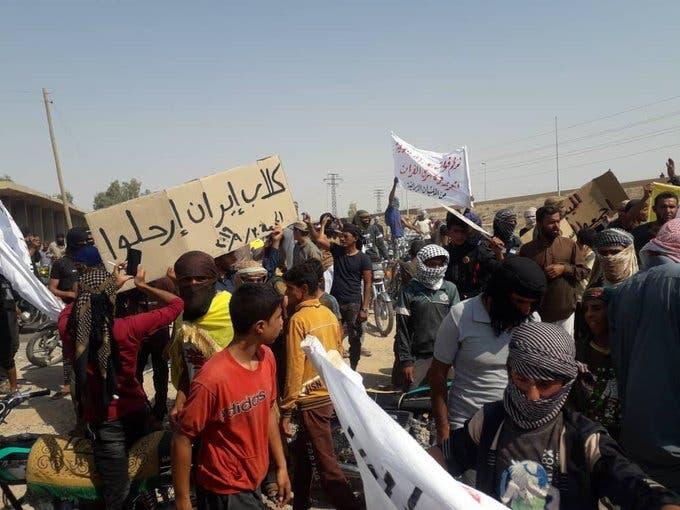 مظاهرة في ريف دير الزور(أرشيفية)