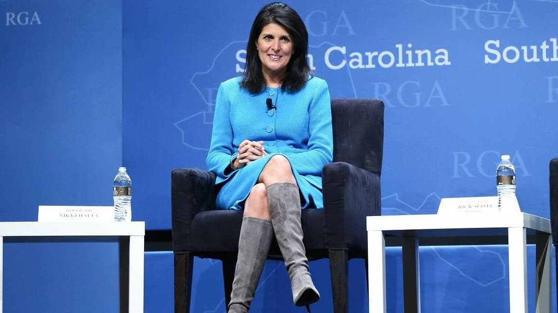 File photo of Nikki Haley participatinin a panel discussion during the Republican Governors Association annual conference on November 18, 2015, in Las Vegas. (AP)