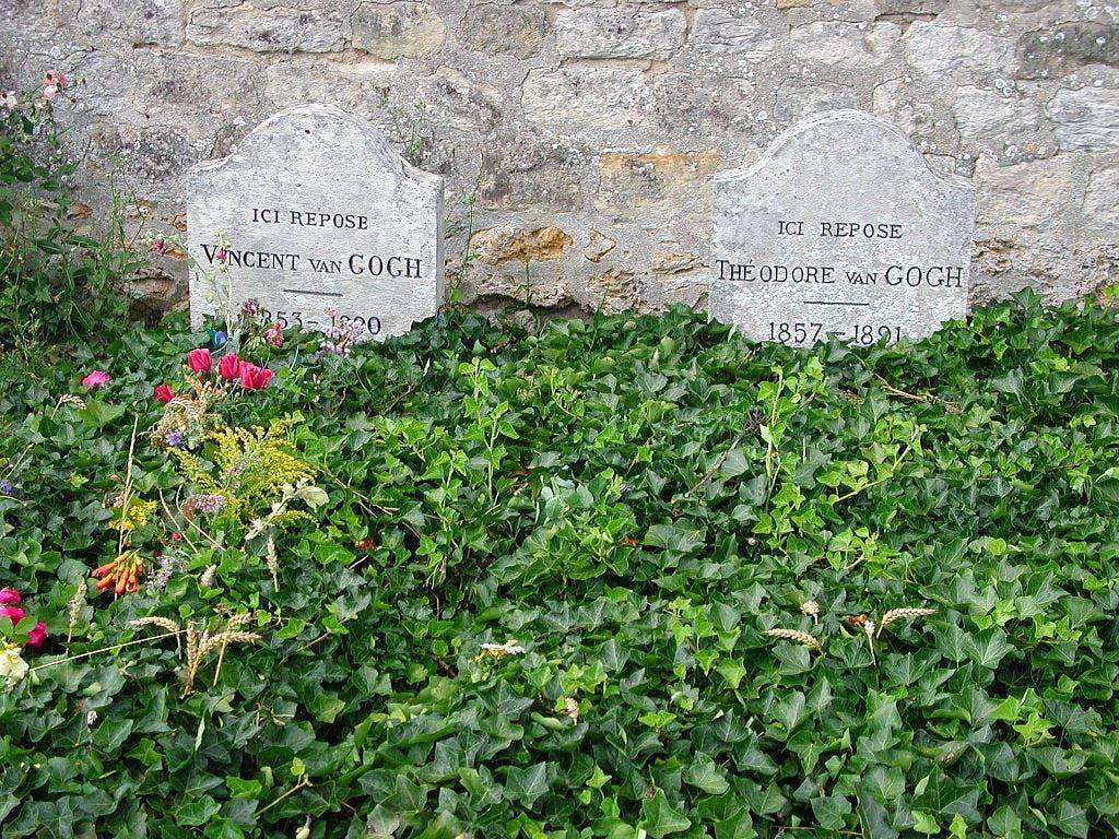 صورة لقبر فنسنت فان غوخ بجوار قبر شقيقه ثيو