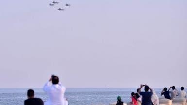 بالصور.. استعراضات جوية احتفاءً باليوم الوطني في الخُبر