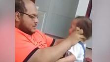 وائرل ویڈیو میں کم سن بچّی پر تشدد کرنے والا فلسطینی باپ الریاض میں گرفتار