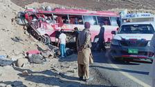 Bus overturns on highway in Pakistan, 13 passengers killed