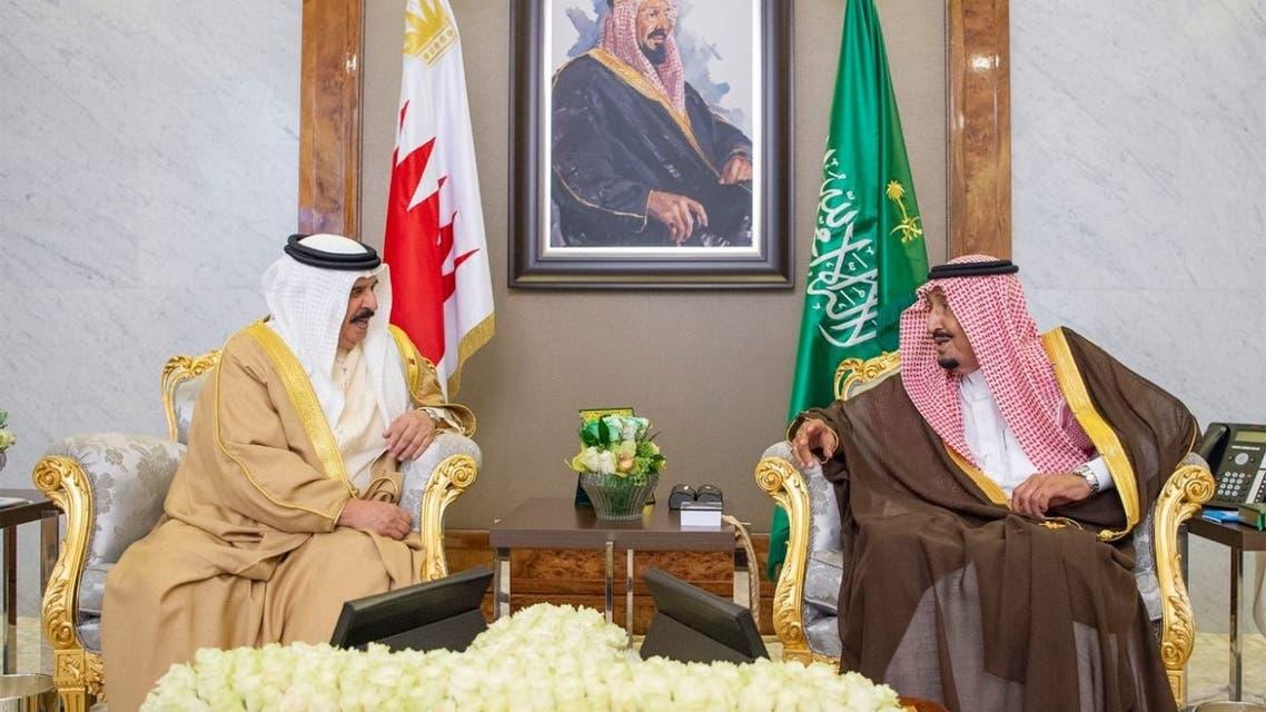 من مباحثات خادم الحرمين الشريفين وملك البحرين