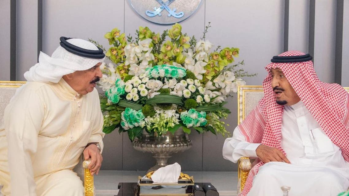 King Hamad and King Salman - SPA