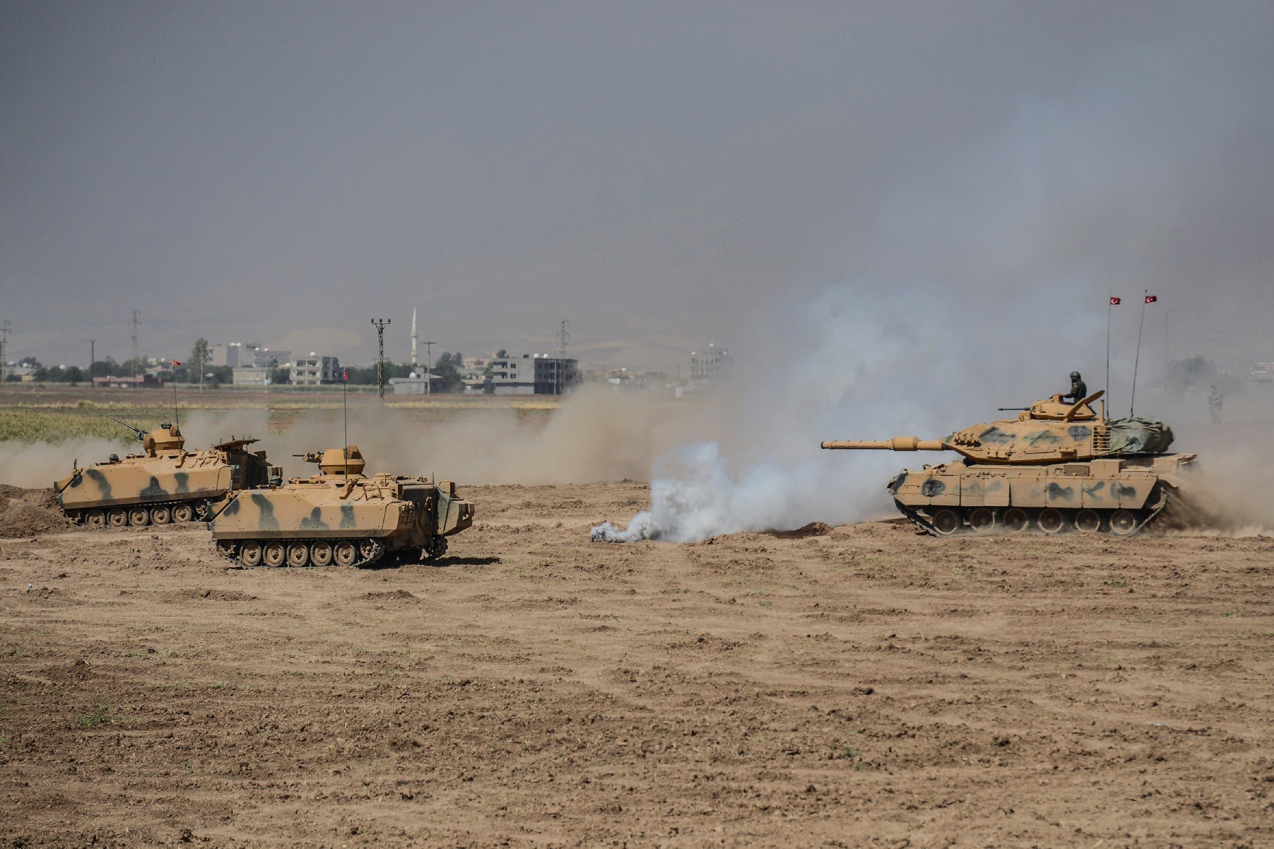 """آليات عسكريةتركية قرب الحدود مع العراق """"أرشيفية"""""""
